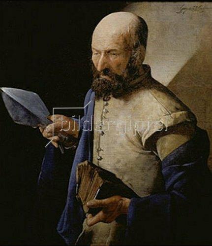 Georges de La Tour: Der heilige Thomas.