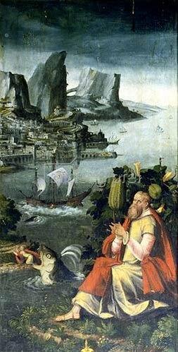 Heinrich Göding d.Ä.: Die Geschichte des Jonas. Aussentafel des Altars in der Frauenkirche Mühlberg/