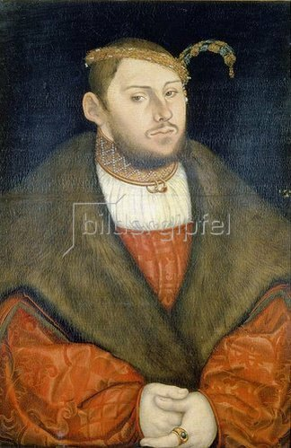 Lucas Cranach d.Ä.: Kurprinz Johann Friedrich von Sachsen - Weimar als Bräutigam.