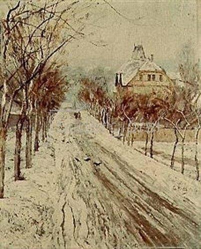 Christian Rohlfs: Die Berkaer Strasse im Winter. 1888.
