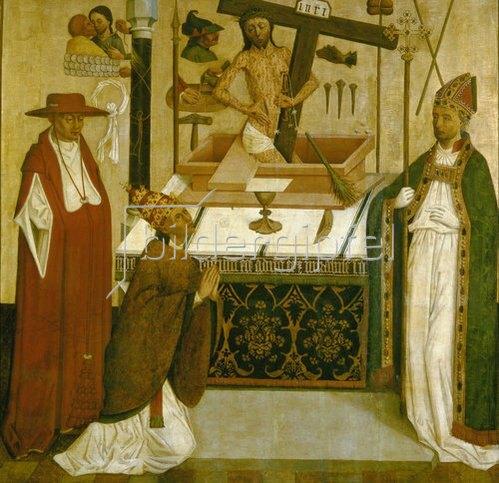 unbekannter deutscher Meister: Die Messe des hl.Gregor.