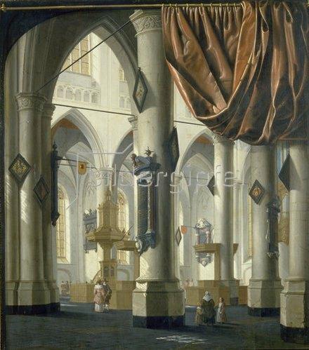 Emanuel de Witte: Inneres einer gotischen Kirche. Um 1650.