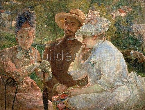 Marie Bracquemond: Auf der Terrasse in Sevres. 1880.