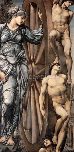 Sir Edward Burne-Jones: Das Rad der Fortuna. 1883.
