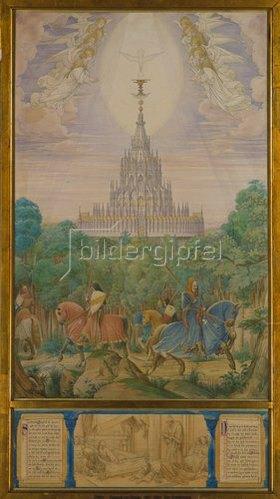 Eduard Jakob von Steinle: Der Gralstempel aus dem Parsifal-Zyklus
