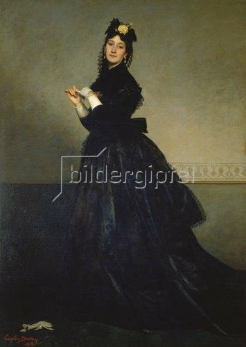Carolus-Duran (Charles Durant): Die Dame mit dem Handschuh (Madame Carolus-Duran). 1869