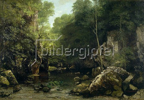Gustave Courbet: Der Waldbach (Le ruisseau couvert). 1865