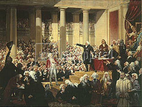 Joseph Désiré Court: Mirabeau vor Dreux-Brézé. 1831.
