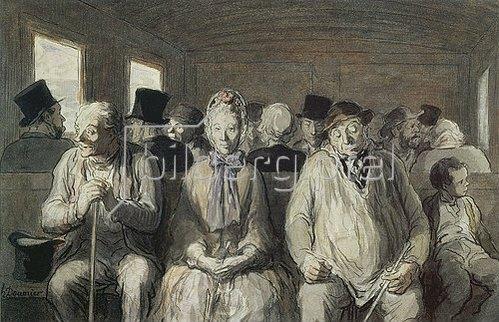 Honoré Daumier: Dritter Klasse.