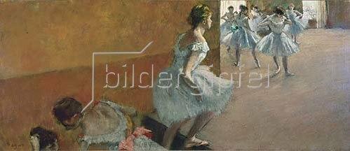 Edgar Degas: Tänzerinnen auf einer Treppe. Gegen 1886/1888