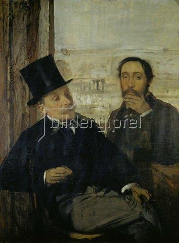 Edgar Degas: Selbstportrait mit Evariste de Valernes. Gegen 1865