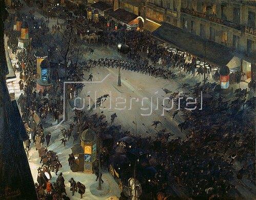 André Devambez: Strassenkampf (La charge). 1902(?).