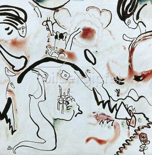 Wassily Kandinsky: Grosse Auferstehung. 1911