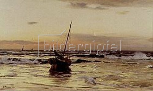 Eugen Dücker: Sonnenuntergang am Meer. 1878