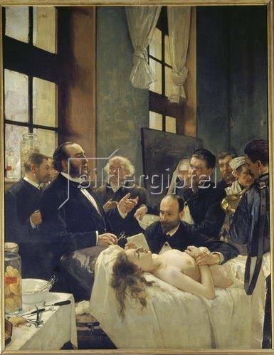Henri Gervex: Vor der Operation. Doktor Péan beim Unterrichten im Hospital St. Louis. 1887