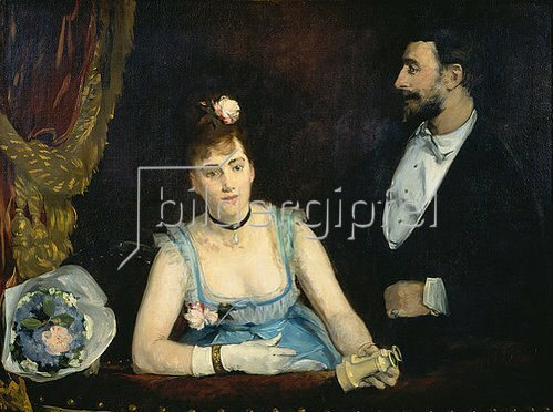 Eva Gonzales: Eine Loge im Italiens. Gegen 1874.