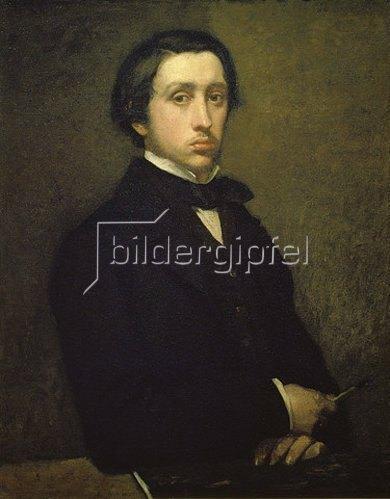 Edgar Degas: Selbstbildnis 1855.