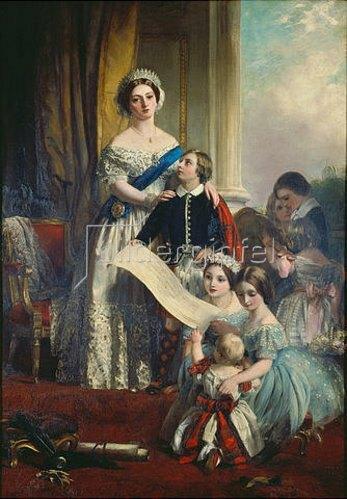 John Calcott Horsley: Königin Viktoria von England mit ihren Kindern.