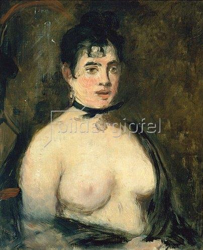 Edouard Manet: Die Brünette mit nacktem Busen.