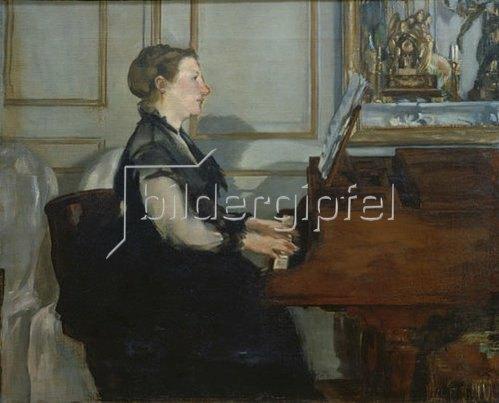 Edouard Manet: Madame Manet am Piano. 1868.