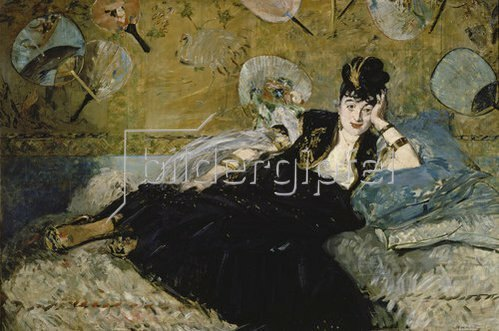 Edouard Manet: Die Dame mit den Fächern (Nina de Callias). 1873.