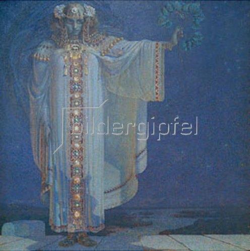 Vitezlav Karel Masek: Die Prophetin Libuse (Königin von Böhmen 700-738).
