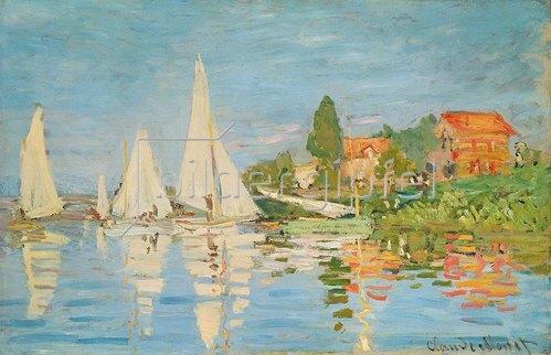 Claude Monet: Regattaboote in Argenteuil. Um 1872.