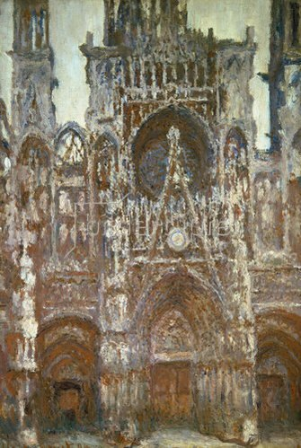 Claude Monet: Frontalansicht der Kathedrale von Rouen (Harmonie brune). 1892