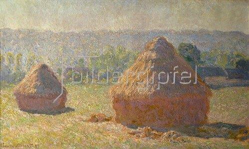 Claude Monet: Stroh-Schober am Ende des Sommers. 1891