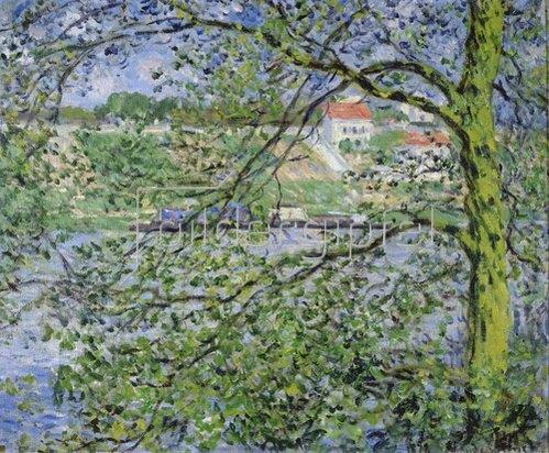 Claude Monet: Blick durch Bäume. 1878