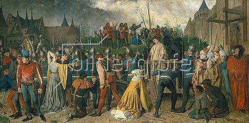 Isidore Patrois: Jeanne d'Arc auf dem Wege zur Hinrichtung. 1867.