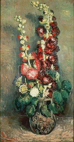 Vincent van Gogh: Vase mit Rosenmalven. 1886.