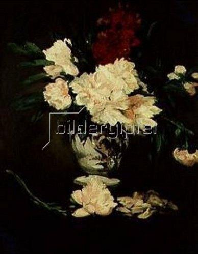 Edouard Manet: Porzellanvase mit Pfingsrosen. 1864.