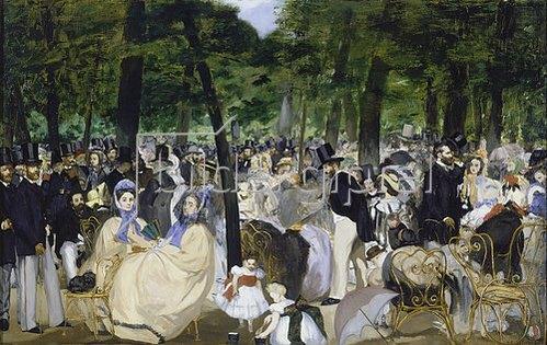 Edouard Manet: Musik im Tuileriengarten. 1862.