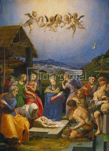 Agnolo Bronzino: Die Anbetung der Hirten. 1530