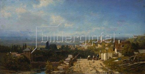 Carl Spitzweg: Vor der Stadt. 1875/80