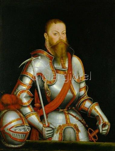 Lucas Cranach d.J.: Bildnis von Kurfürst Moritz von Sachsen (1521-1553)