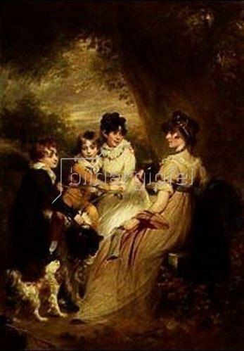 Sir William Beechey: Mrs.Raymond Symonds mit ihren Kindern.