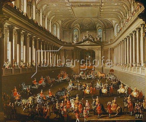 Martin Mytens (Meytens) d.J.: Damenkarussell in der Winterreitschule der Wiener Hofburg.