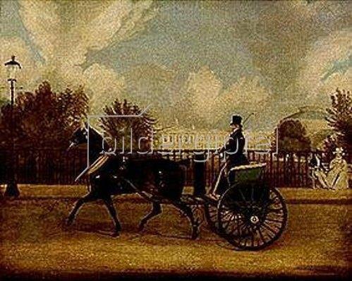 James Pollard: Captain Copland bei der Ausfahrt mit Tam-O-Shanter im Regentspark London.