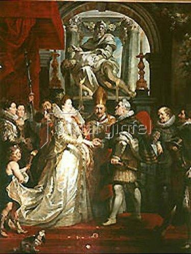 Peter Paul Rubens: Die vorläufige Vermählung der Maria de' Medici mit Heinrich IV. .1623/1625.