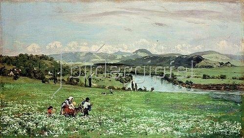 Hans Thoma: Am Rhein bei Säckingen. 1873.