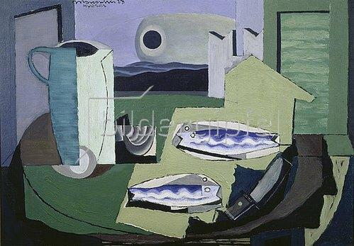 Louis Marcoussis: Blaue Fische (Poissions bleus). 1928.