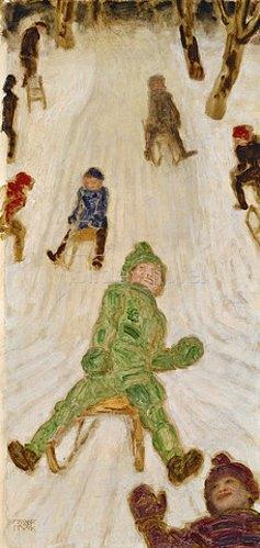 Franz von Stuck: Rodelnde Kinder. 1914.