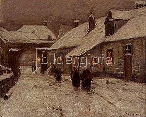 Helmuth Liesegang: Winterliche Dorfstrasse.