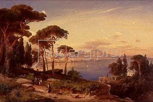 August Schaeffer: Die Bucht von Neapel. 1867.