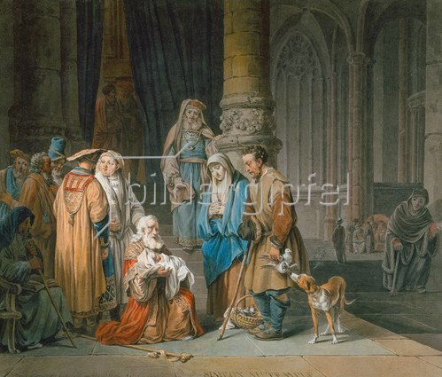Marquard Wocher: Simeon im Tempel. 1796.
