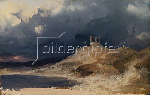 Carl Blechen: Galgenberg bei Gewitterstimmung. Um 1835
