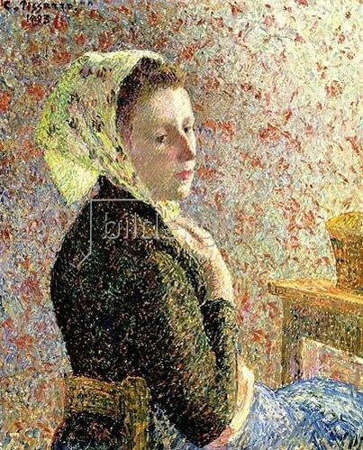 Camille Pissarro: Frau mit grünem Kopftuch. 1893.