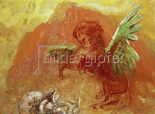 Odilon Redon: Pegasus und die Hydra. 1905